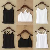 打底外穿内搭显瘦百搭黑色白色吊带衫 小吊带背心女夏性感棉质短款