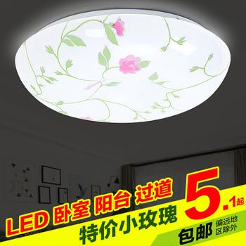 LED吸顶灯圆形花卧室灯创意小客厅灯饰房间厨卫阳台走廊节能灯具