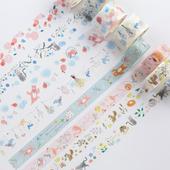 日本原创可撕和纸胶带整卷 手账日记diy手帐彩色胶纸装饰相册贴纸