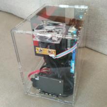 立式M ATX电脑主机箱 化全透明机箱 有机玻璃 个性 亚克力水晶 DIY