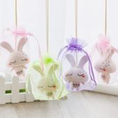 创意小白兔子陶瓷饰品风铃车挂包包挂饰女生卧室学生礼物批发