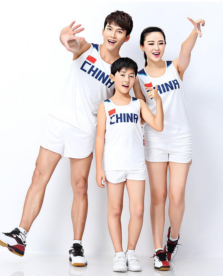 儿童田径服套装男女短跑步队服训练服中高考马拉松运动田径比赛服