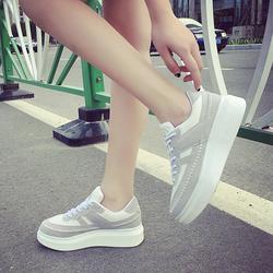 韩版ulzzang运动鞋原宿风学生跑步鞋潮厚底松糕鞋休闲鞋低帮女鞋