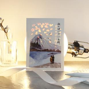 信的恋人 透光文字爱情表白祝福贺卡 创意隐藏明信片