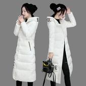 中长款棉衣女加厚过膝冬季韩版修身显瘦连帽学生羽绒棉服防寒外套