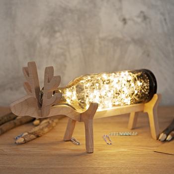 原创设计 小鹿灯 手工玻璃小鹿夜灯北欧风台灯 led灯