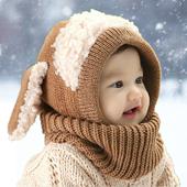 天天特价宝宝秋冬毛线针织帽可爱卡通男女儿童护耳1-4岁围脖帽子