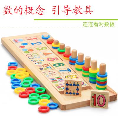 蒙特儿童益智数学启蒙玩具数字配对早教幼儿园蒙台梭利教具1-3岁
