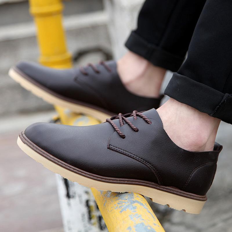包邮春季男士休闲鞋商务流行百搭小皮鞋复古英伦风男鞋子单鞋