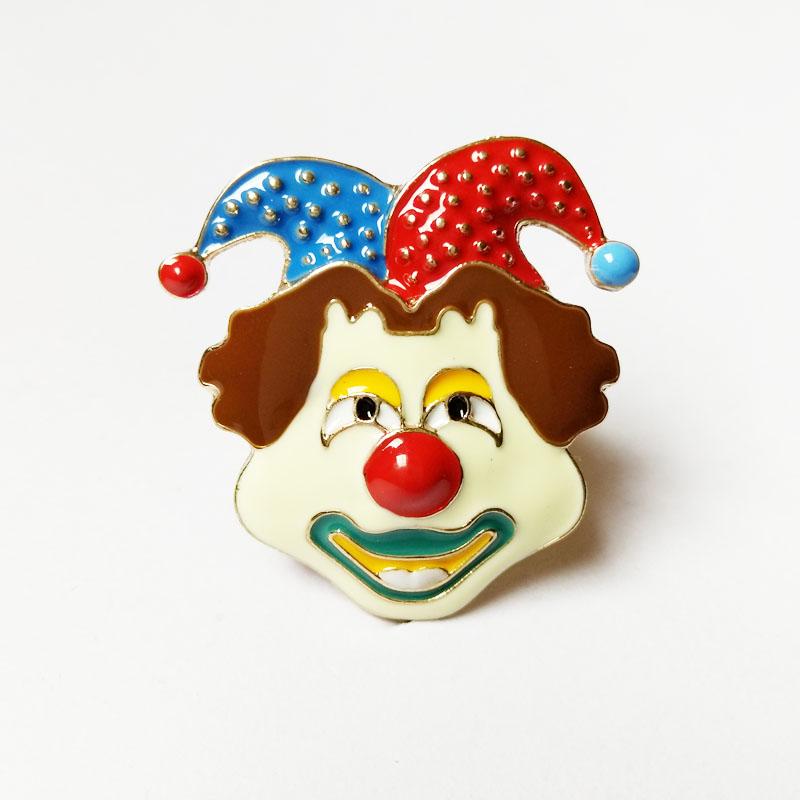欧美搞怪嘻哈 滴釉鬼脸滑稽表情小丑金色食指戒指女图片