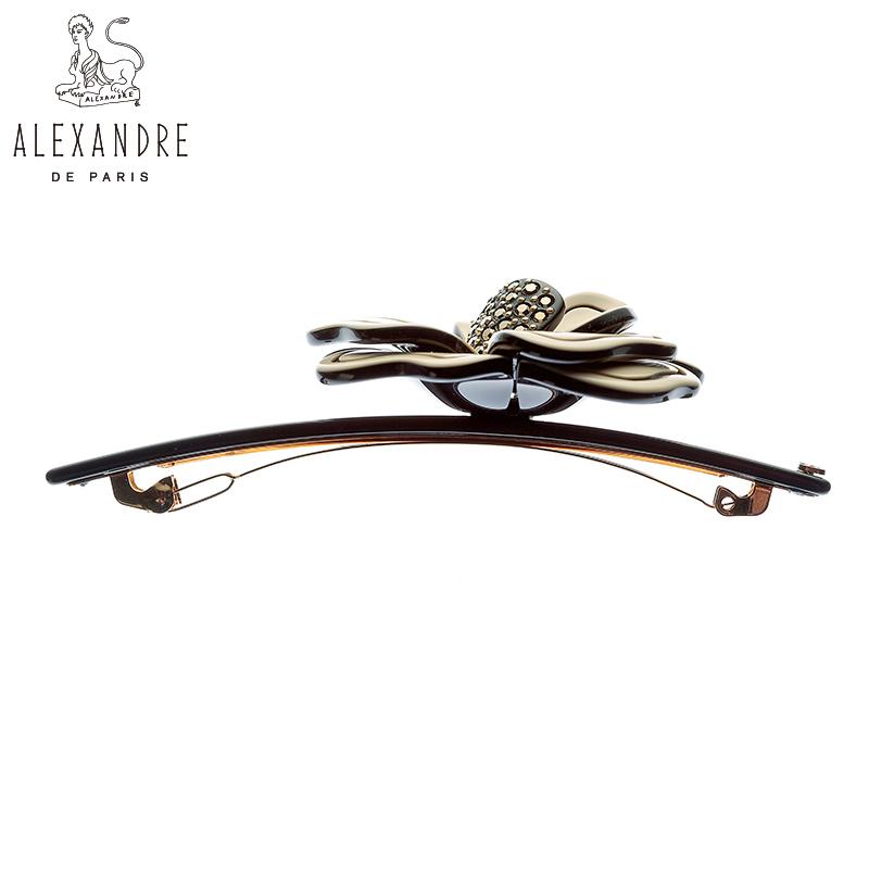 【新品】法国Alexandre de Paris亚历山大茂盛系列10公分发夹顶夹
