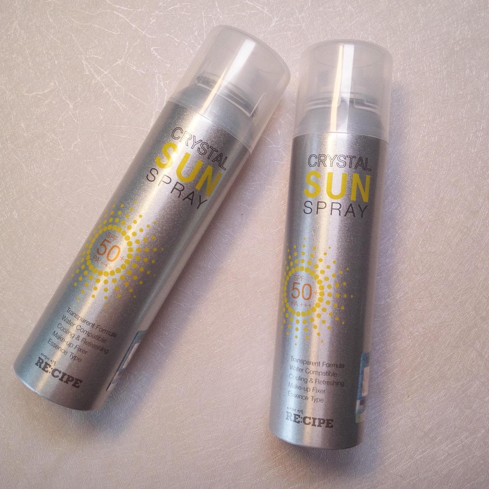 清爽肌肤保湿透明食谱喷雾防晒水晶 韩国RE