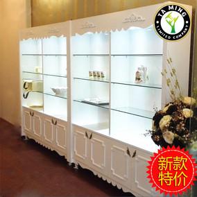 欧式化妆品展示柜烤漆指甲油展柜美容院护肤品产品柜