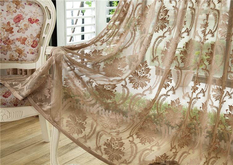 全国包邮高档提花欧式窗帘窗纱镂空透风透气客厅阳台