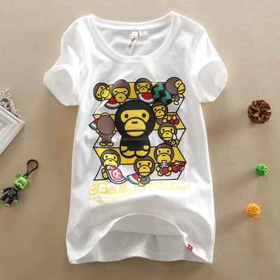 安逸猿新款短袖女式t恤女装上衣小衫新版个性图案夏季半袖创意款