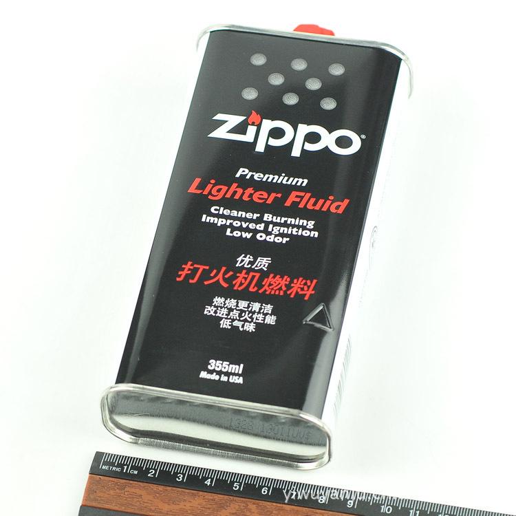 正品美国 ZIPPO 打火机专用油 棉油打火机 配件 355ml  火机油