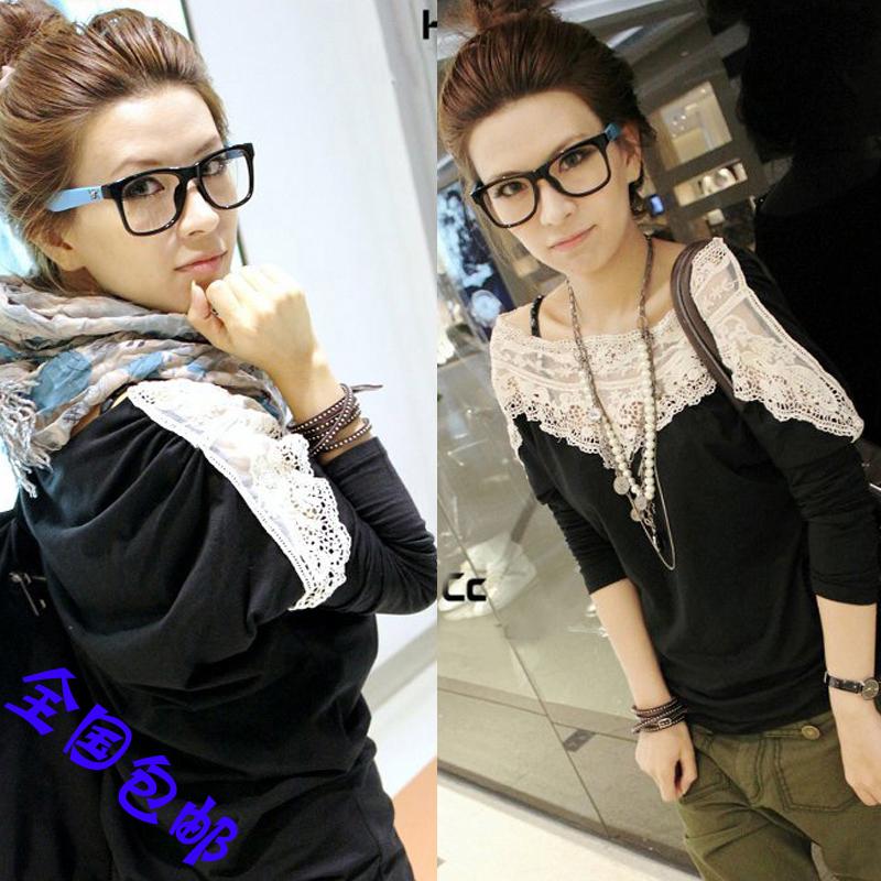 2014秋季新款韩版时尚气质纯棉T恤女式清凉显瘦短袖上衣女包邮