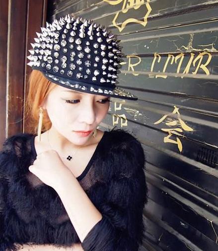 棒球帽鸭舌帽全尖铆钉帽男女帽嘻哈街舞韩国版潮人平檐沿帽子包邮
