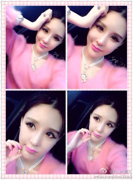 心霓儿同款 名媛气质 芭比粉色正版水貂毛荷叶边上衣+短裙套装