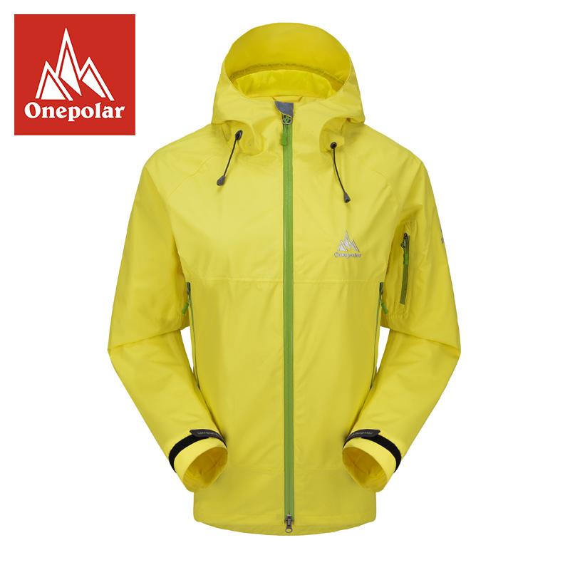 极地2014新款 女式防水防风户外服装 透气超轻单层冲锋衣探路