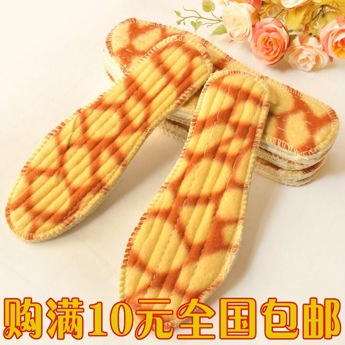 秋冬加厚羊绒尼豹纹保暖防臭吸汗鞋垫 超舒适男女雪地靴鞋垫批发