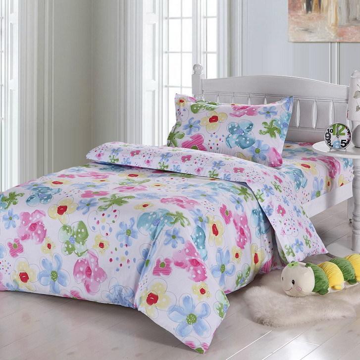 邂逅-单人床全棉斜纹印花三件套-包邮 1米2床 1米35床 都可以用