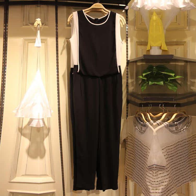 2014代购太平鸟女装专柜正品新款夏款撞色连身裤A2FB4250989