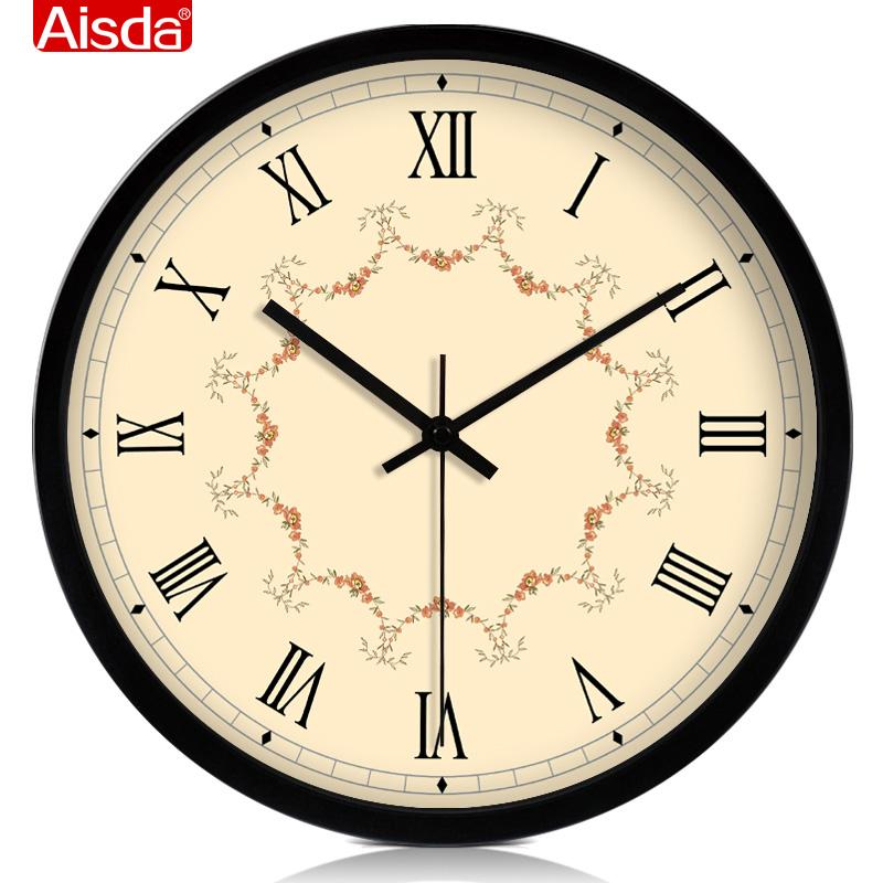 大号现代欧式钟表石英钟创意静音挂钟客厅时尚时钟个性挂表包邮