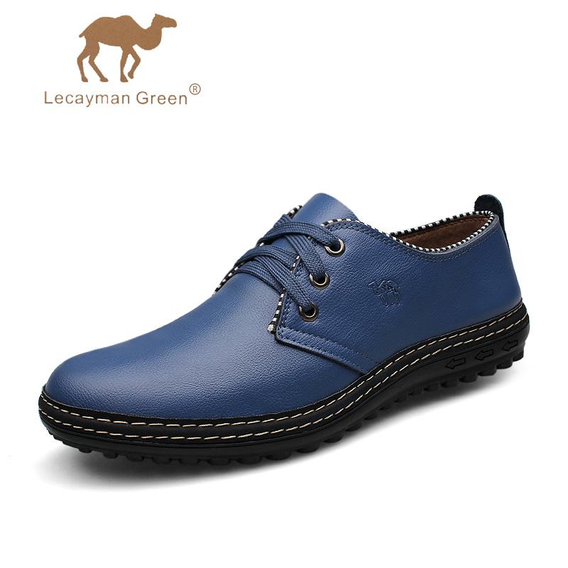 骆驼王正品韩版头层牛皮商务休闲 耐磨防臭潮鞋低帮男士鞋子