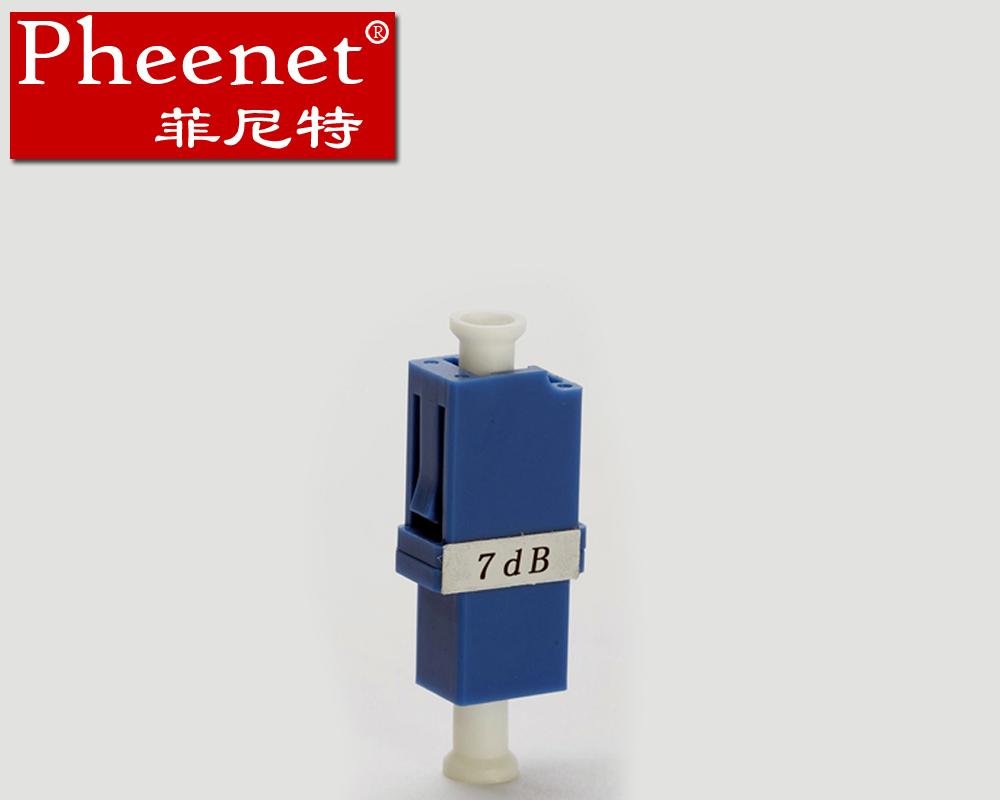 法兰式转换式固定式光纤衰减器7dBLC菲尼特Pheenet