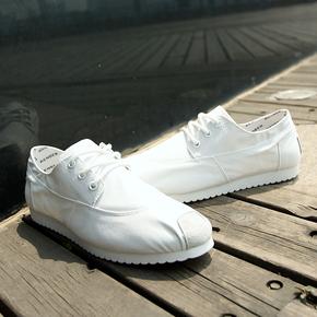 人本男士透气帆布鞋 英伦潮阿甘板鞋平底学生单鞋 休闲低帮男鞋子