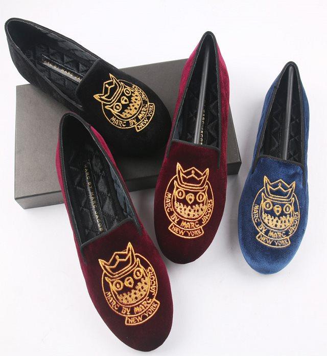 2014新款猫头鹰 绒面圆头 平底单鞋 欧美风女鞋