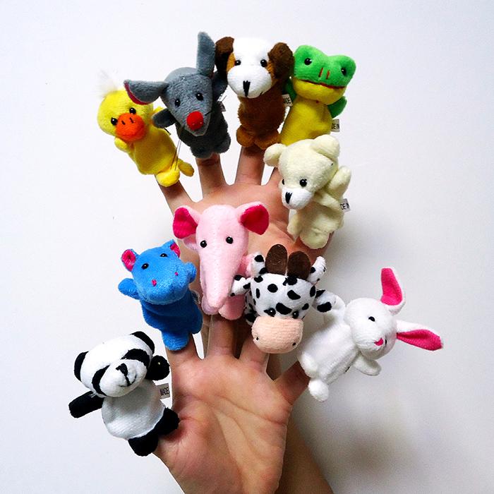 手指玩偶动物益智早教新生宝宝安抚毛绒玩具讲故事布偶婴幼儿巧小