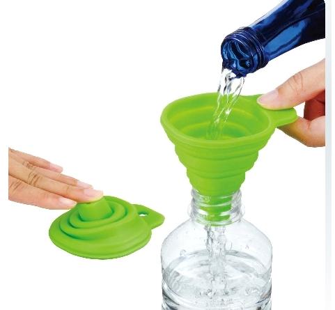 便携式玻璃水液体漏斗硅胶油壶随意迷你伸缩 日本
