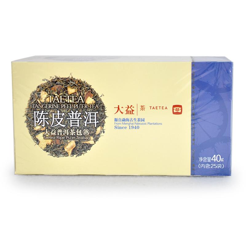 大益 普洱茶 熟茶 花草茶系列 陈皮普洱 40g 袋泡茶