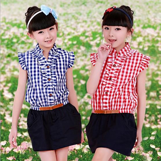 2014新款包邮韩版女小中大童格子热销连衣裙子母女亲子装家庭装