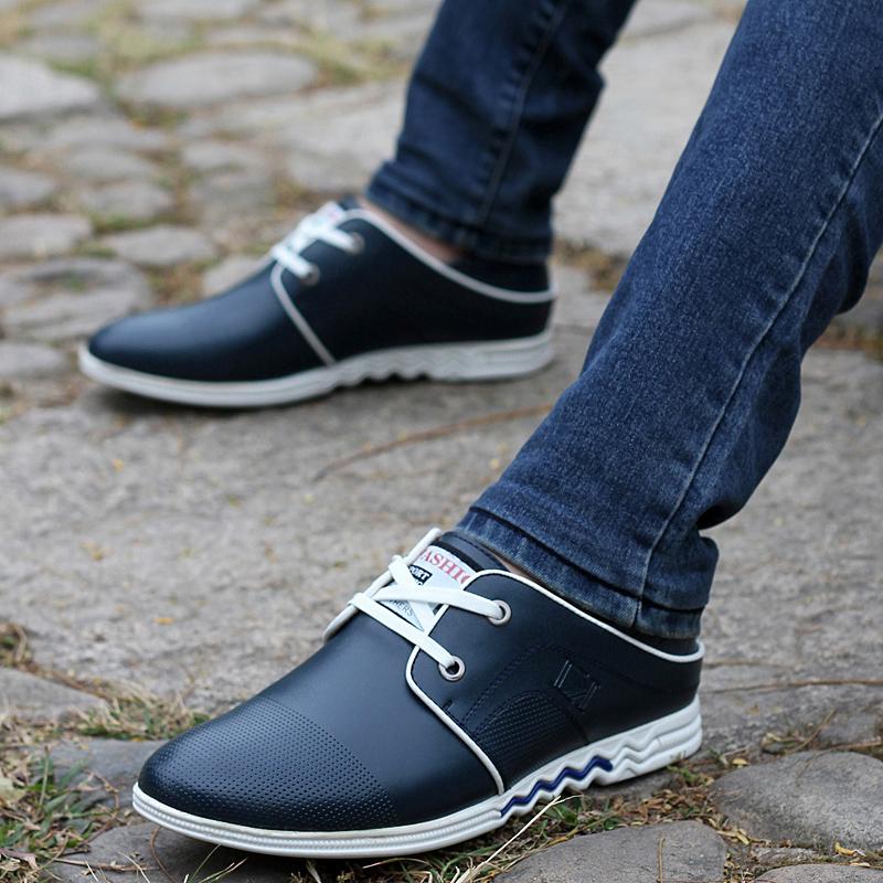软面透气男鞋真皮舒适商务单鞋牛皮鞋 日常休闲皮鞋潮流时尚男鞋