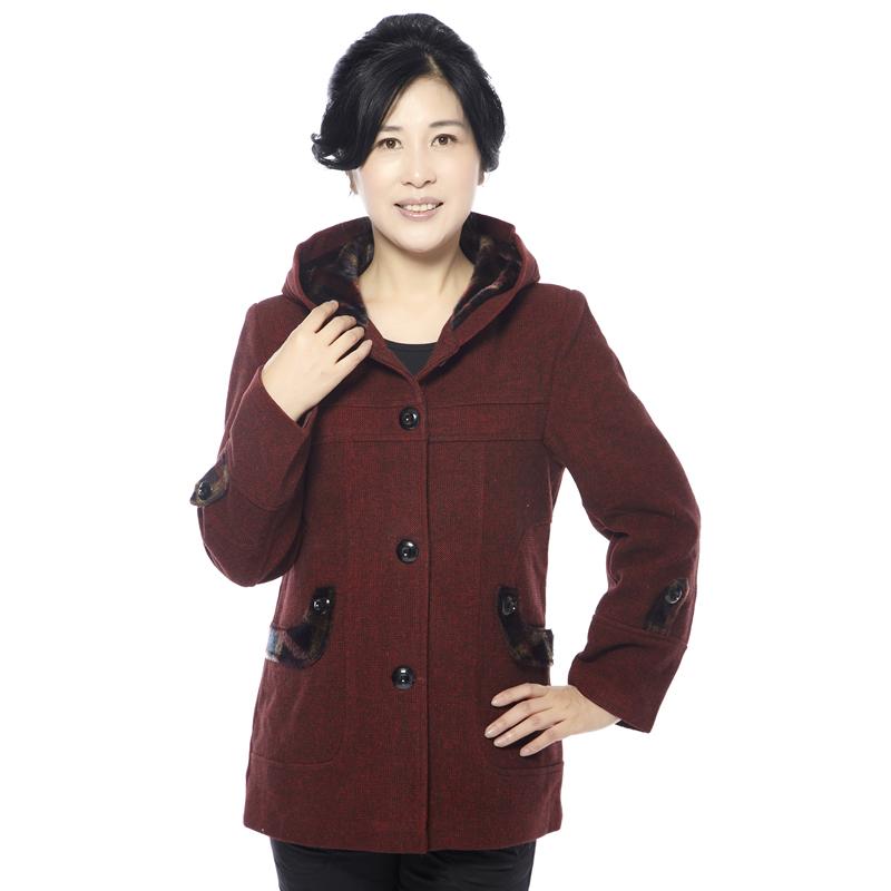 2014中老年女装秋装毛呢外套风衣中年女装妈妈装秋装外套