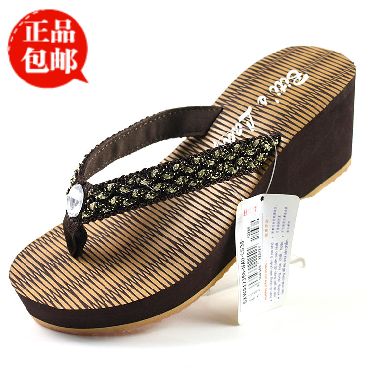 越南鞋平仙正品人字拖女凉拖鞋女坡跟松糕鞋沙滩鞋高跟拖鞋女夏季