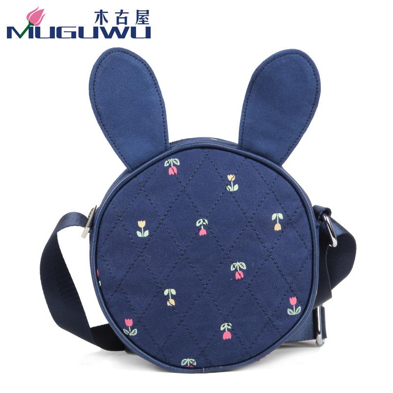 2014木古屋新款单肩斜挎潮女包儿童包时尚可爱兔子耳朵帆布包W355