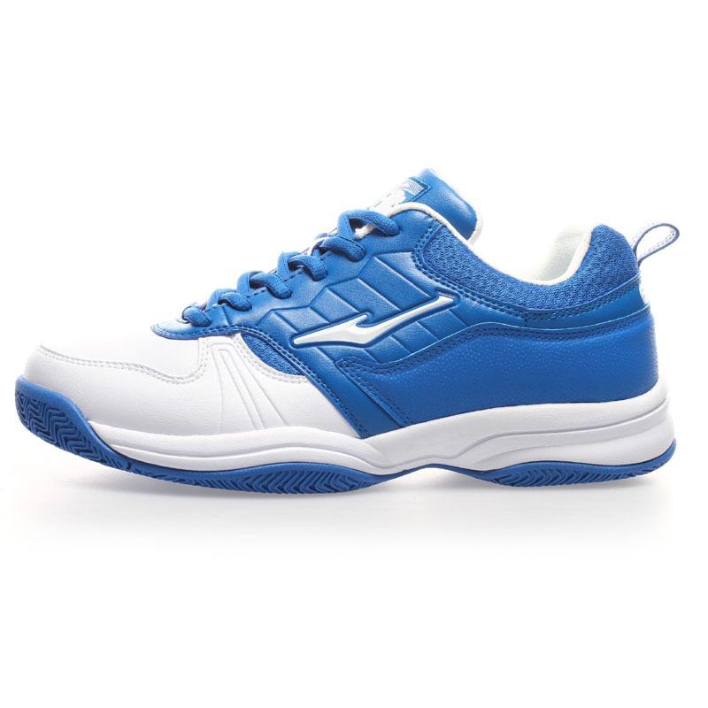 ERKE鸿星尔克男子网球鞋耐磨橡胶否透气硬地人造革织物