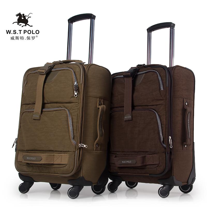 正品保罗polo牛津布拉杆箱 男女旅行箱万向轮行李箱 20寸登机箱包