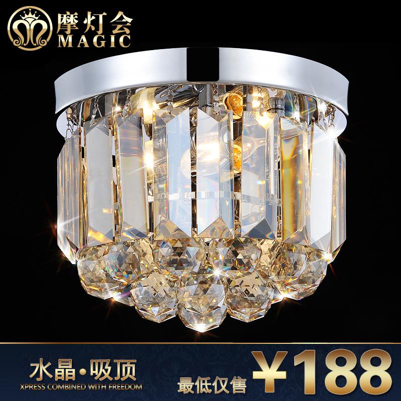 摩灯会 水晶灯卧室玄关灯过道灯饰 现代简约走廊餐厅水晶吸顶灯具