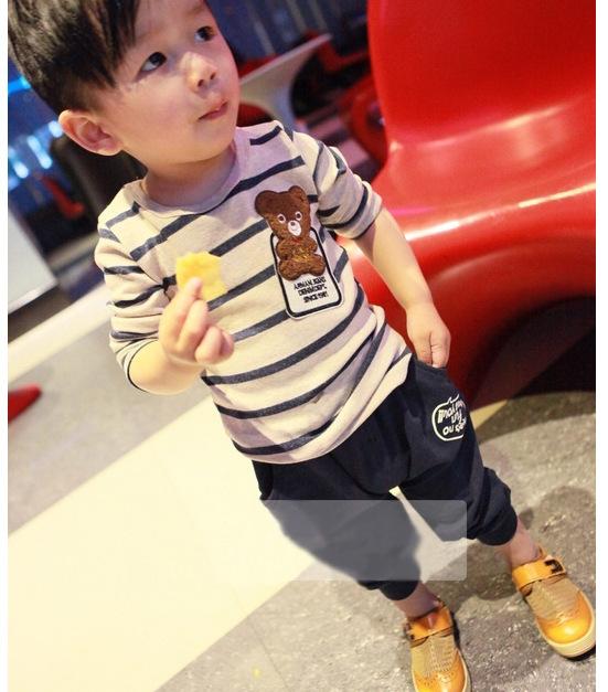 韩版春秋2岁宝宝孩子套装纯棉新款童装 小童卡通31AE6B5D