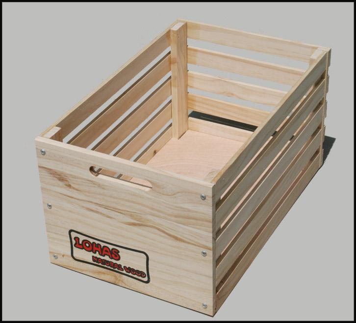 新西兰白松302实木收纳箱/储物筐