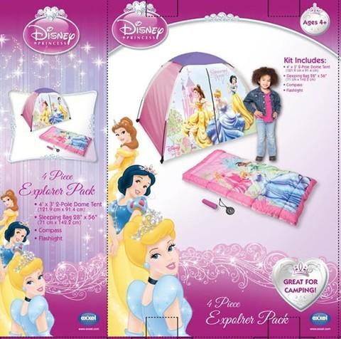 迪斯尼野营用品4件套 公主