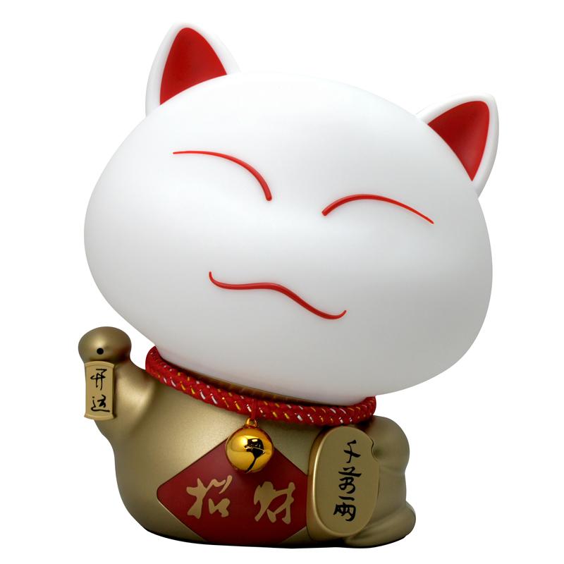 LINGZUN原装进口 土豪金招财猫 声控智能台式灯
