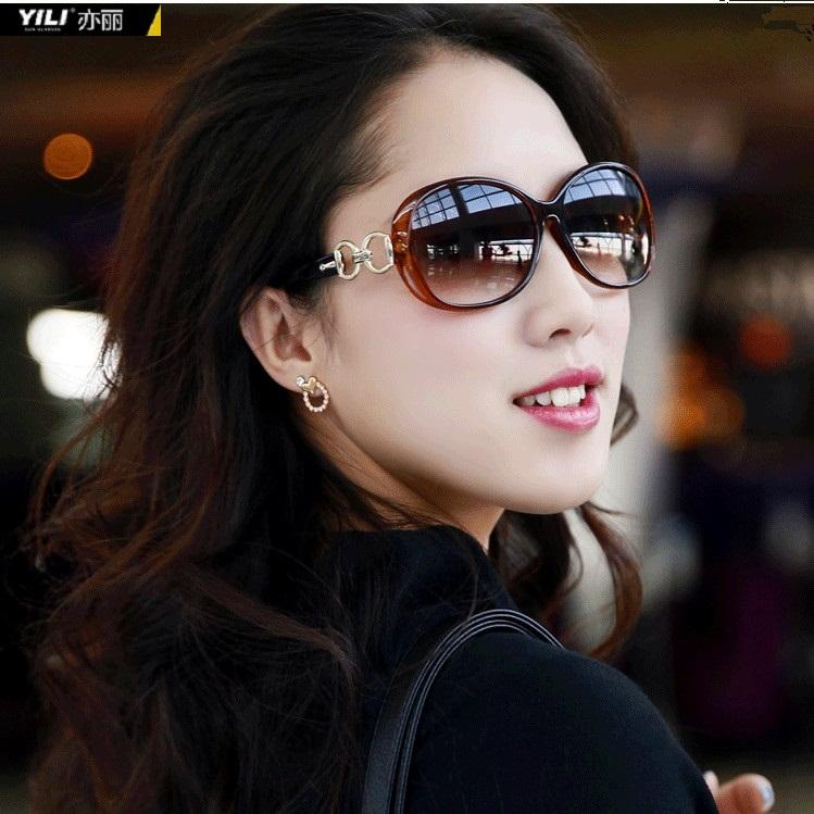 亦丽2014新款偏光防紫外线大框女潮太阳眼镜复古墨镜2115