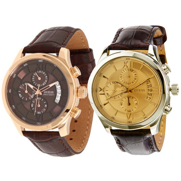 guess手表 皮带男士手表 时尚新款男表 W0192G1 W14052G2 正品