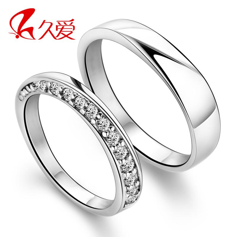 S925纯银仿真钻戒情侣对戒子 男士女士爱的交织尾戒 潮人戒指指环